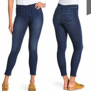 Free People Ultra High Jegging Pull On Dark Jeans